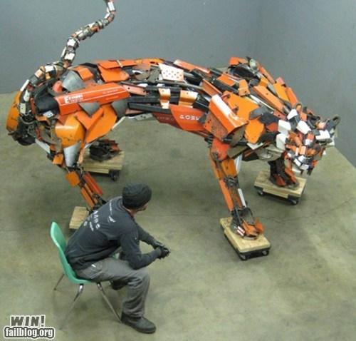 animals art recycle scrap metal sculpture - 5813309184