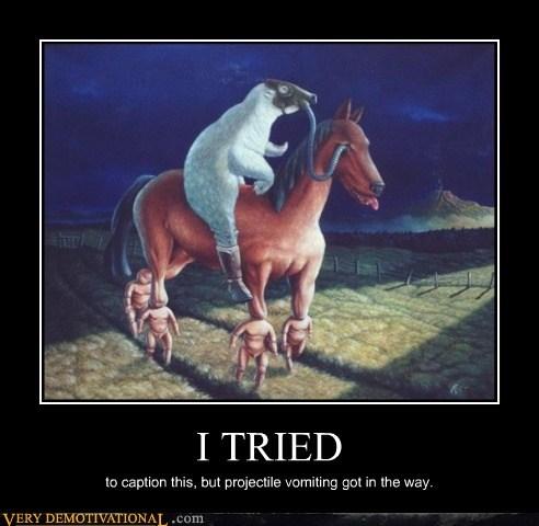 bizarre horse sheep Terrifying vomit wtf - 5813309696