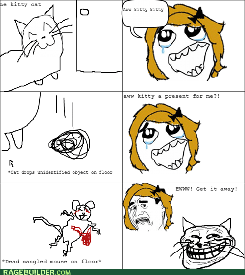 cat gross Rage Comics troll - 5813338368
