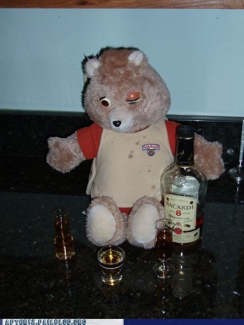 bacardi,drunk,mean,stories,teddy ruxpin