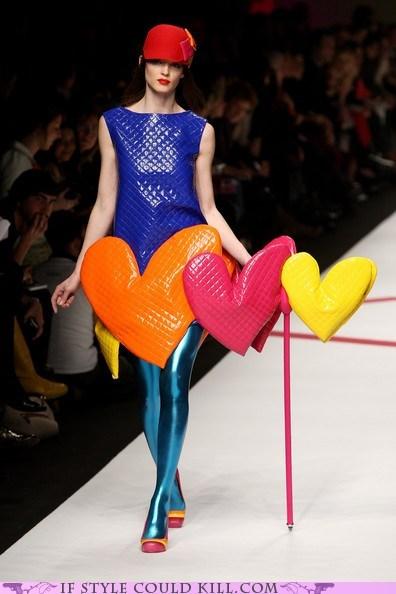 cool accessories hearts prada runway Valentines day - 5813439488