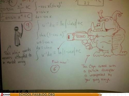 doodle drawing ninja orc worksheet - 5813449728