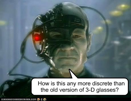 3d glasses borg Captain Picard discretion locutus new old Star Trek the phantom menace - 5813645568