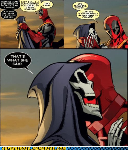 deadpool,Death,love story,Straight off the Page,wtf