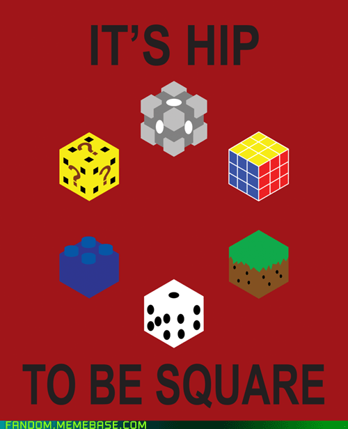 companion cube dice Fan Art hip minecraft question box rubiks cube Square - 5813690368