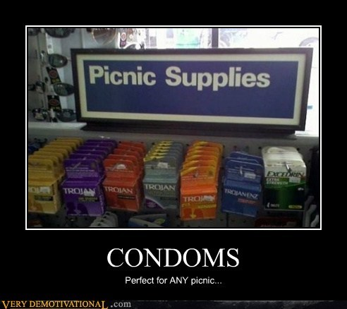 CONDOMS Perfect for ANY picnic...