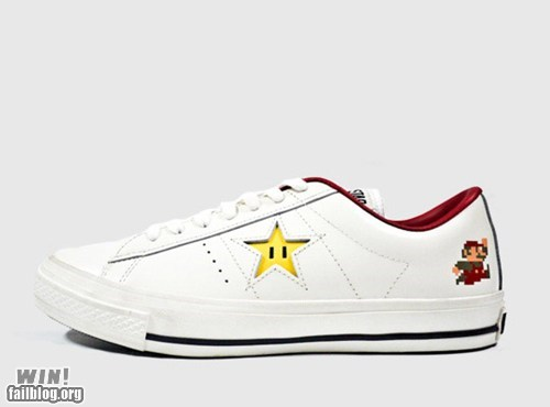 converse g rated Hall of Fame mario nerdgasm shoes sneakers Super Mario bros win - 5813996544