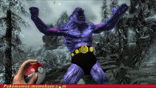 awesome,best of week,crossover,machoke,make a mod,Pokémon,Skyrim,troll