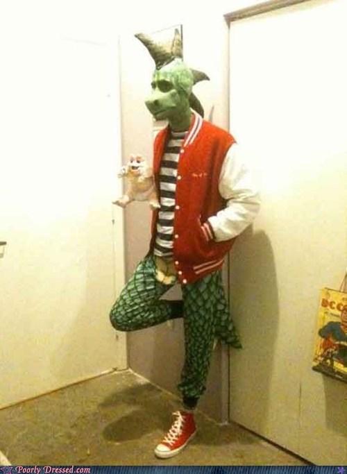 80s costume dino dinosaur g rated poorly dressed Robbie robbie sinclair television - 5814403584