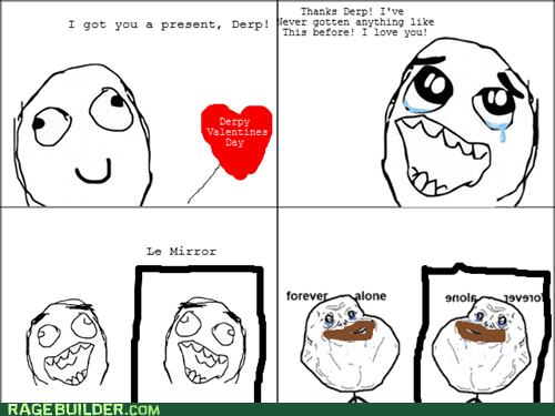 chocolate forever alone Rage Comics Valentines day - 5814435840