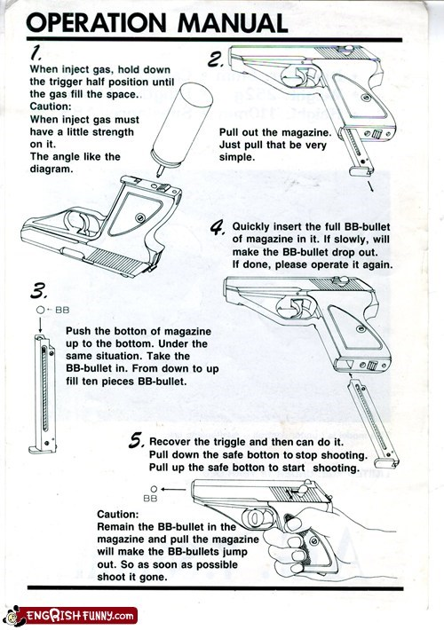 gun instructions toy weapon - 5814595328
