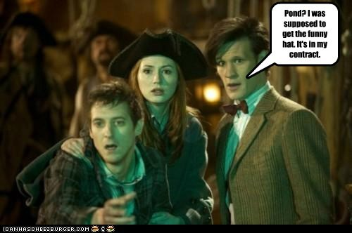 amy pond,arthur darvill,contract,doctor who,funny hat,karen gillan,rory williams,the doctor matt smith