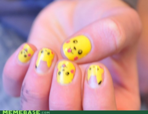 Fan Art nail art pikachu Pokémon - 5815691008