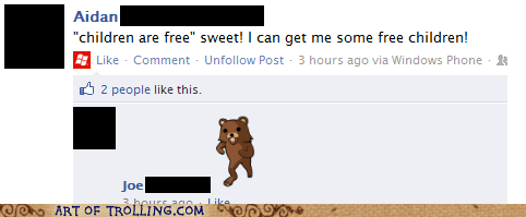 children facebook free pedobear - 5815695872