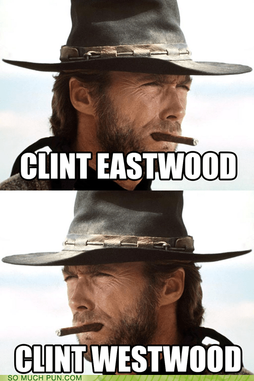Clint Eastwood,direction,east,literalism,surname,west
