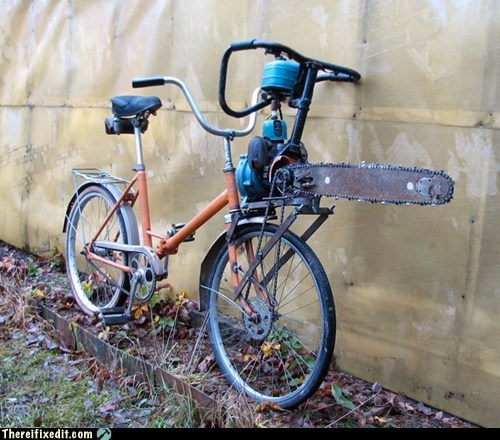 awesome bicycle chainsaw Hall of Fame wtf - 5816356096