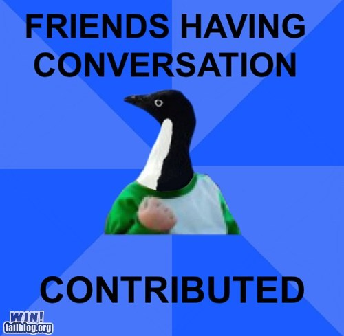 contribution friends socially awkward penguin success kid - 5817026816