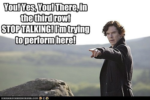 bennedict cumberbatch,perform,Sherlock,sherlock bbc,stephen moffat,stop talking