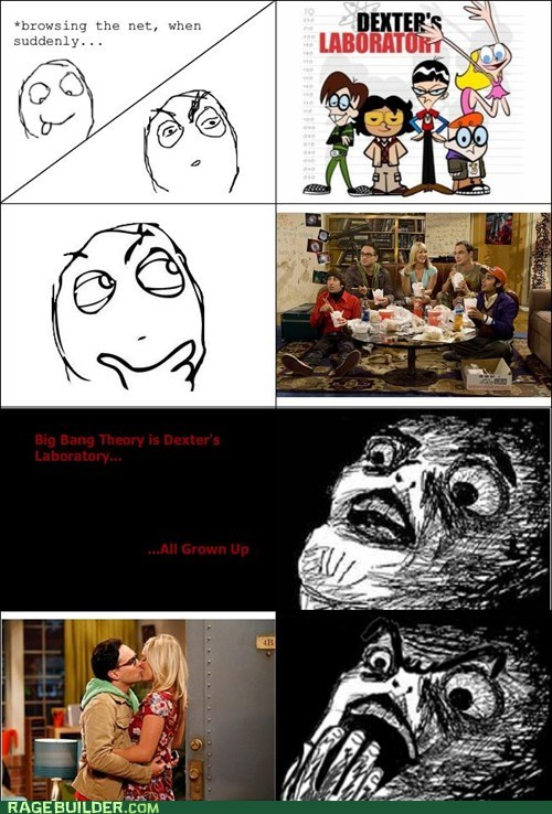 all grown up dexters-lab Rage Comics the big bang theory TV - 5817467904