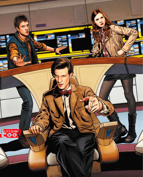 comics crossover doctor who IDW Star Trek Star trek the next generation tv shows - 5817627904