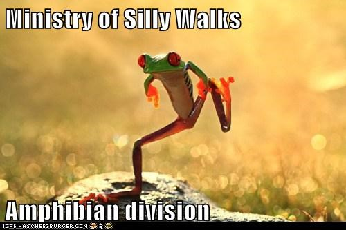 amphibians best of the week frogs Hall of Fame ministry of silly walks monty python silly walking