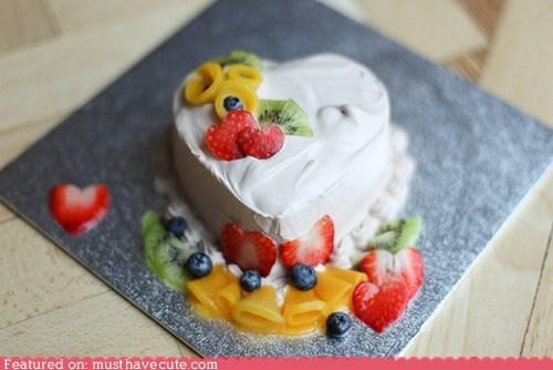 berries cake epicute frosting fruit heart - 5817920512