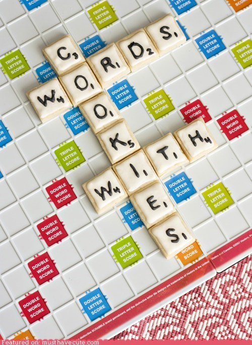cookies epicute icing scrabble tiles Words With Friends - 5817930496