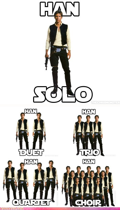 actor celeb funny Han Solo Harrison Ford star wars - 5817950976