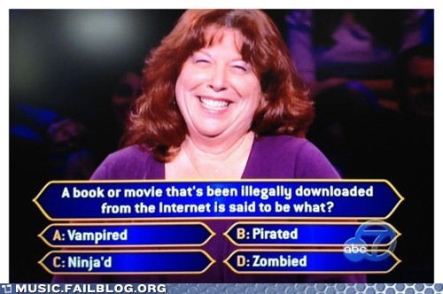 game show,illegal,piracy,pirated,quiz,who wants to be a millionaire,zombie