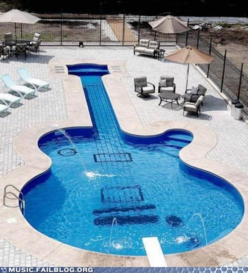 guitar pool swimming pool - 5818219008