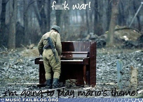 army,mario,piano,super mario,video games,war