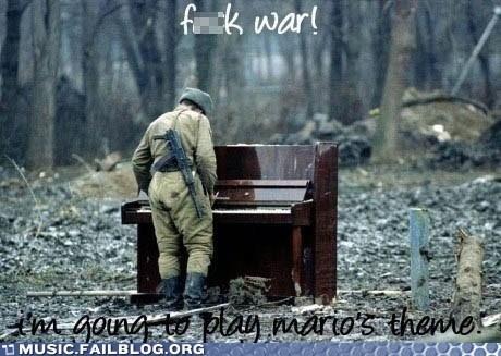 army mario piano super mario video games war - 5818257664
