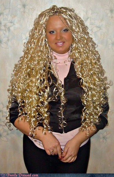blonde curls goldilocks hair pun steroids