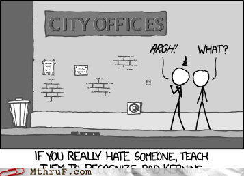 driving someone crazy,kerning,xkcd