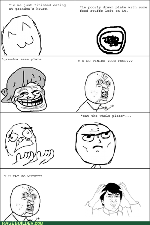 food,grandma,Jackie Chan,Rage Comics,wtf,Y U No Guy