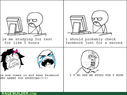 facebook Rage Comics studying truancy story - 5818992896