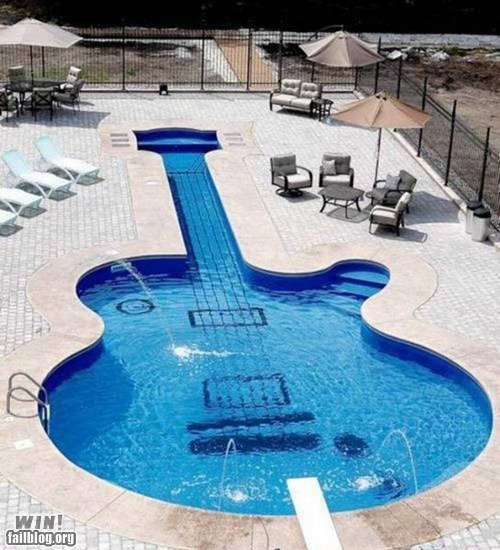design guitar Music pool swimming - 5819025408