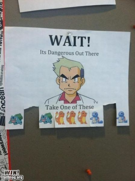 free stuff nerdgasm Pokémon sign take one - 5819028224