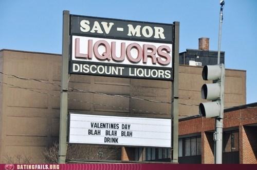 alcohol blah blah blah booze liquor store Valentines day - 5819438848