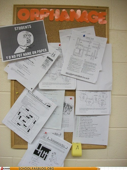 bulletin board,Memes,reference,Y U NO