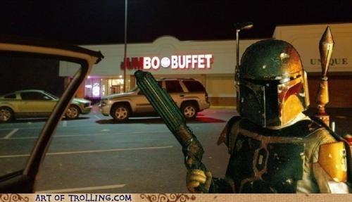 boba fett buffet IRL star wars - 5819477760