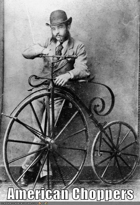 funny historic lols penny farthing Photo technology - 5820383232
