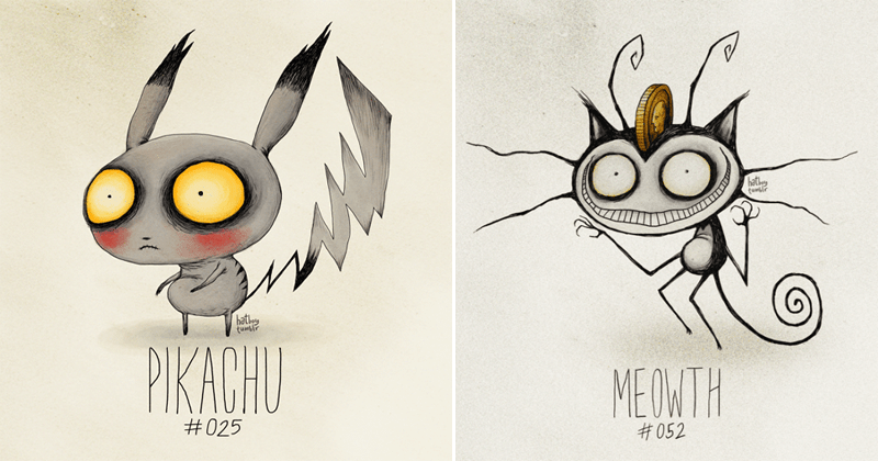 Funny tim burton pokemon creepy.