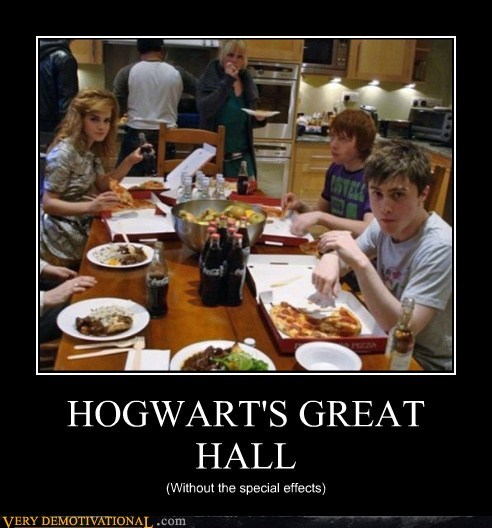 food,great hall,hilarious,Hogwarts,pizza
