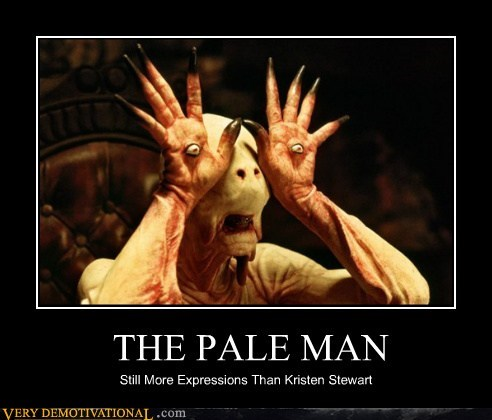 THE PALE MAN Still More Expressions Than Kristen Stewart