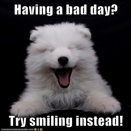 Having a bad day? Try smiling instead!