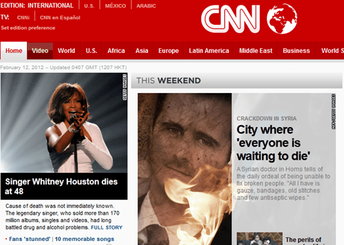 Probably bad News,too soon,whitney houston