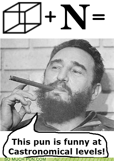 astronomical cuban cube Fidel Castro homophones letter N similar sounding - 5825753856