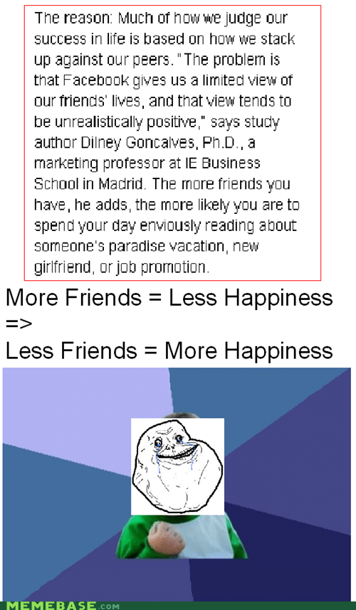 facebook forever alone happiness success kid - 5826379008