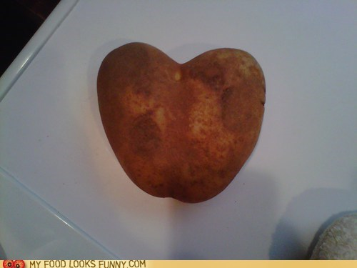 heart love potato Valentines day Veggie